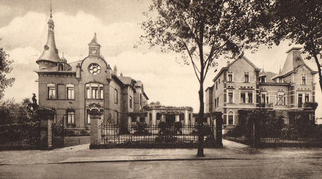 Historische Aufnahme des ehemaligen Sanatoriums Dr. Schorlemmer