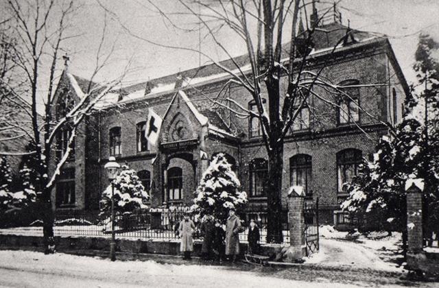 Blick auf das Altenwohnheim Johanniterhaus