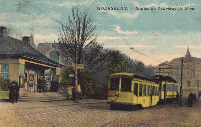 Postkarte der ehemaligen Wartehalle