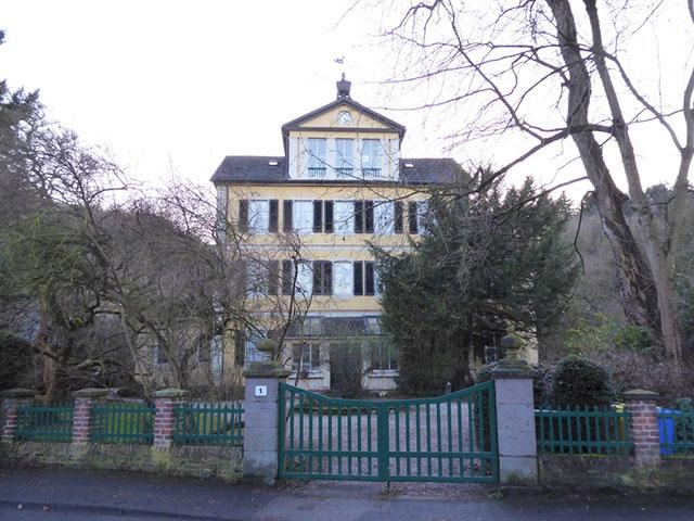 Blick auf die Villa Köhler Simons