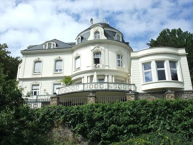 Blick auf die Villa Cappell