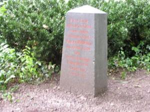 Gedenkstein für Königshusaren im Stadtpark