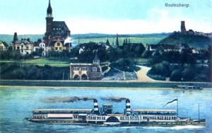 Rheinpromenade mit Reinallee um 1905 (vom Verein mit Gemeinde Godesberg zwischen 1880 und 1910 angelegt)