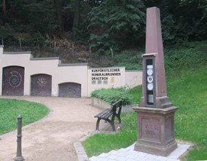 Wettersäule am Draitschbrunnen